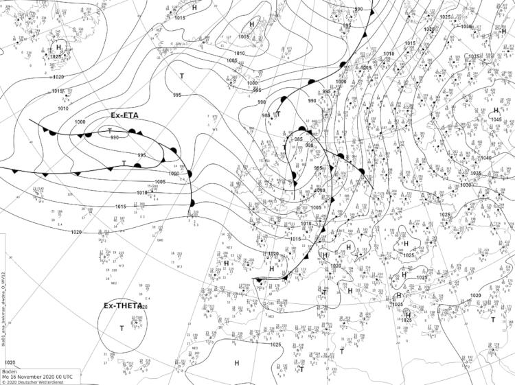 Gleich zwei Ex-Hurrikans tummeln sich vor der Westküste Europas. Quelle: www.wetter3.de
