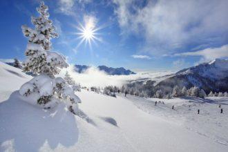 Wintereinbruch, bereits viel Schnee in den Bergen
