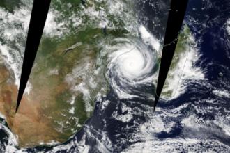 Zyklon Idai vor der Küste Mosambiks am 13.März 2019; Quelle NASA EOSDIS