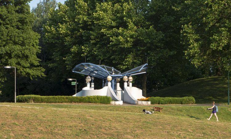 Die Wetterstation im Kurpark Oberlaa, eine von vielen Wetterstationen in Wien