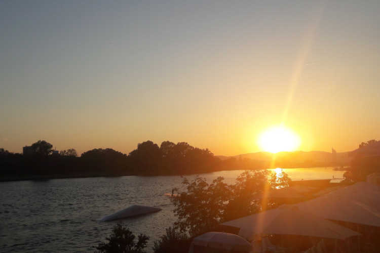 Sonnenuntergang auf der Donauinsel © wetter-wien.wien