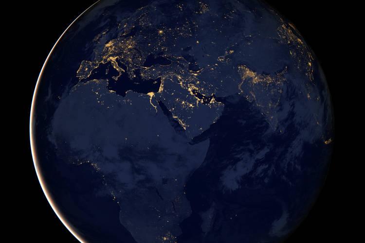 Erde - Atmosphäre; Bild: NASA