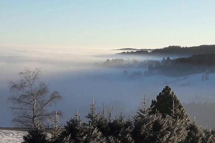 Inversionswetterlage mit Hochnebel; Foto: wetter-wien.wien