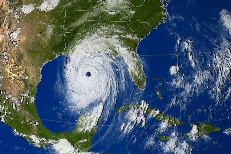 Hurrikan Katrina vor der US-Küste