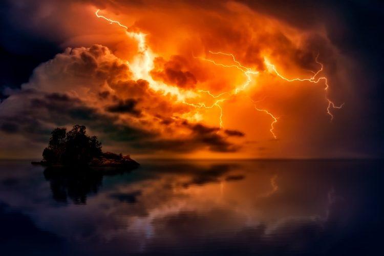 Wetterfront: Änderung des Wetters