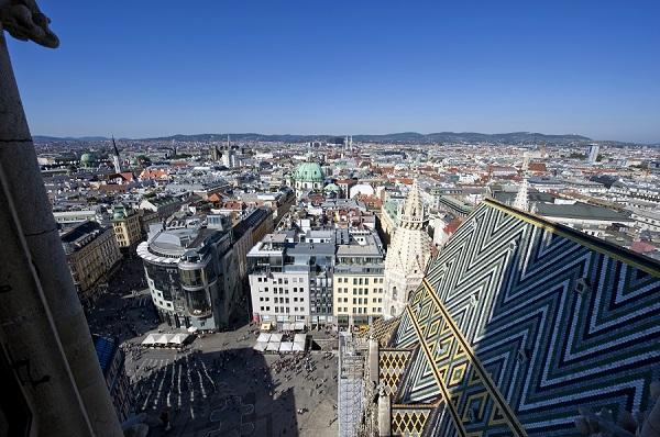 Der Wärmeinsel-Effekt in Wien: Die Innere Stadt heizt sich auf.